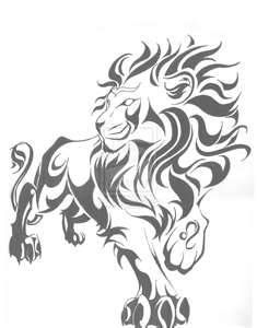 About Existance Tribal Leo Sign Tattoo  Tabatha - I'm not really into tribal tattoos but I like this pose for the lion