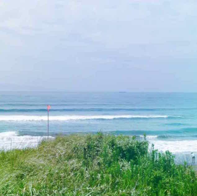 Beautiful sea at Heisaura beach. Tateyama, Chiba, Japan