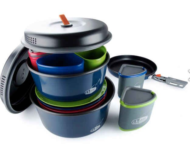 Stackable Eating Set | 32 Things You'll Totally Need When You Go Camping