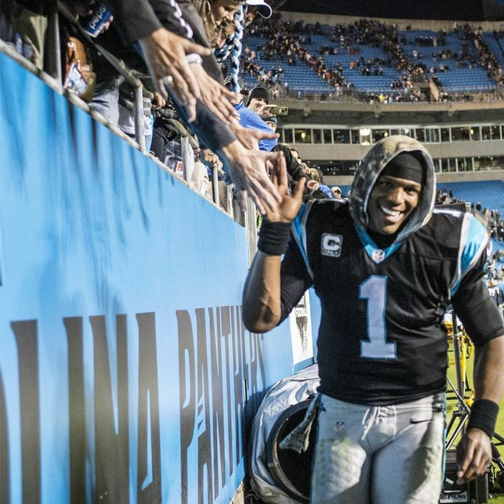 from Carolina Panthers Six Straight Wins! Flash that smile, Cam!