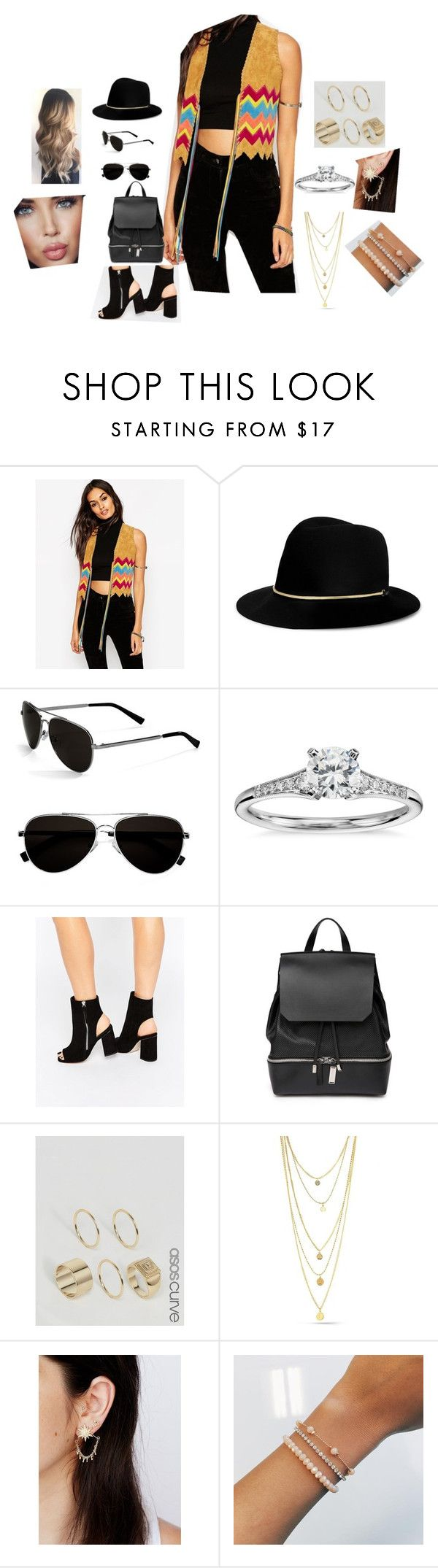 """Başlıksız #3931"" by tubaserdem ❤ liked on Polyvore featuring ASOS, Janessa Leone, Calvin Klein, Blue Nile, COSTUME NATIONAL, ASOS Curve and Free People"