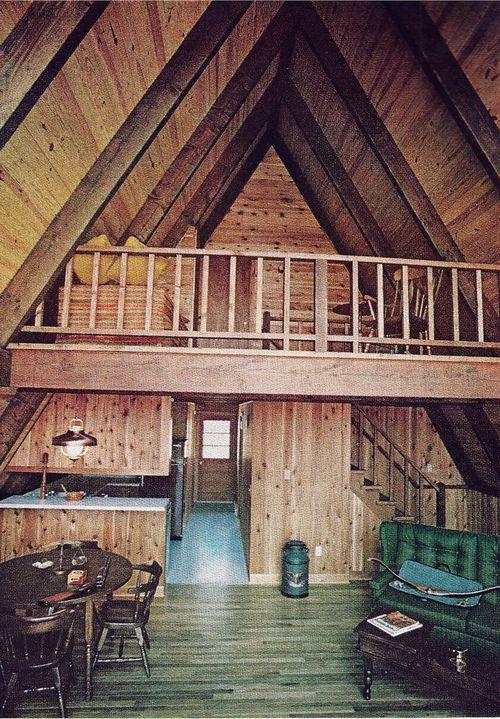 A Frame Cabin Contemporary House Plan 90603: A Frame Cabin Interior Photos