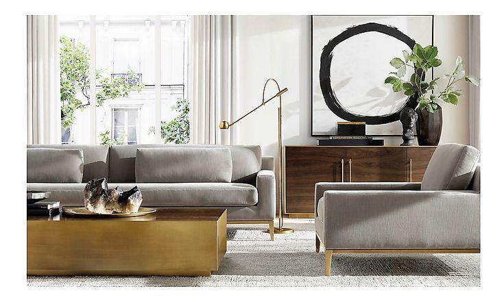 Rooms | RH Modern | Family room lighting, Home living room ...