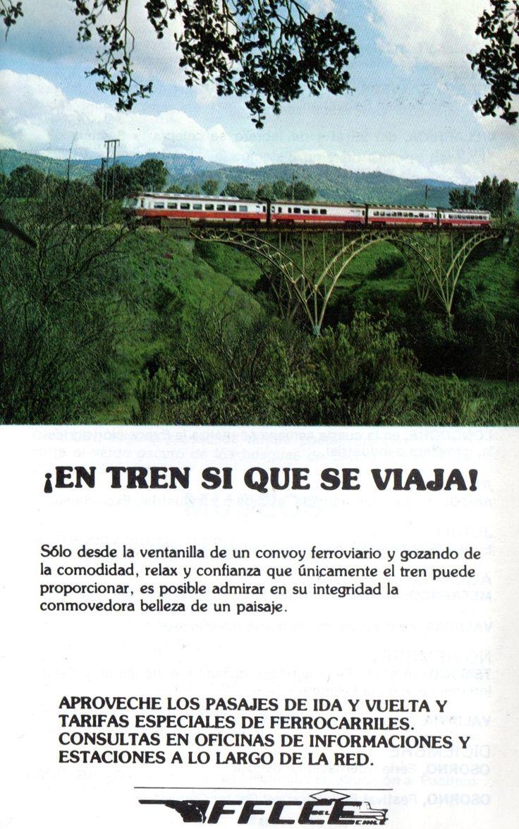 En tren si que se viaja! Guía Turística Chile 1982. Ferrocarriles del Estado.  Puente Río Claro