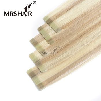 High quality 100 human hair tape extensions 22 inch tape hair extensions tape in seamless hair extensions for short