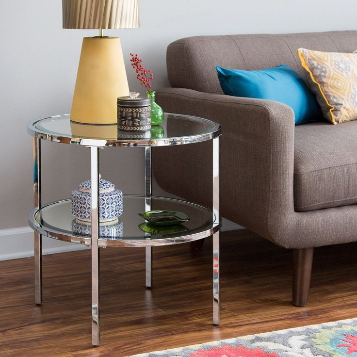 Belham Living Franklin Reclaimed Wood Industrial Coffee Table: 25+ Best Ideas About Round End Tables On Pinterest