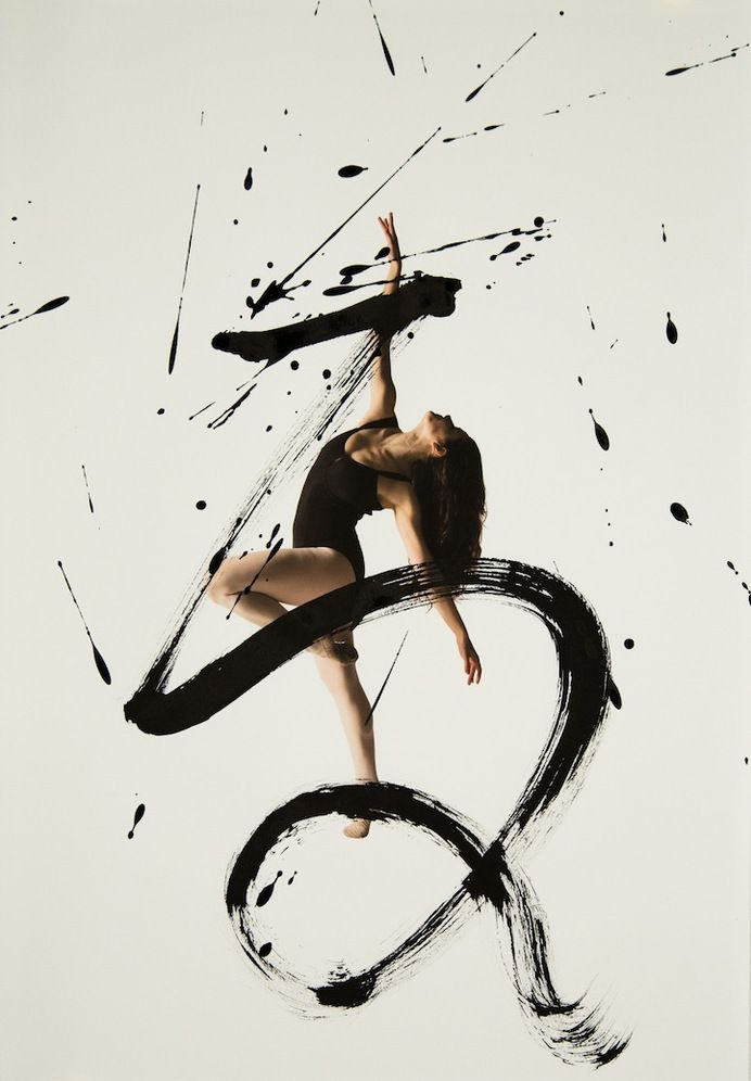 Typography / Expressive Combination of Ballet Dancers and Calligraphy