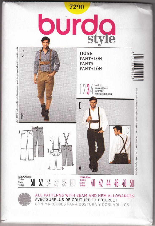 Lederhosen And Bundhosen Pattern Pants Pattern