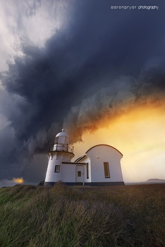 ~~s t o r m ~ over the lighthouse at Port Macquarie, Australia by Aaron Pryor~~