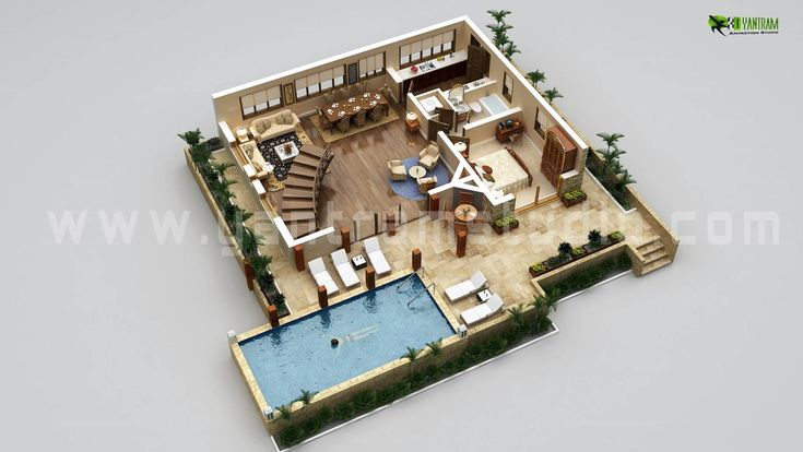 Interactive 3D #Floorplan Design Ideas for Home, Residential, commercial office and more.