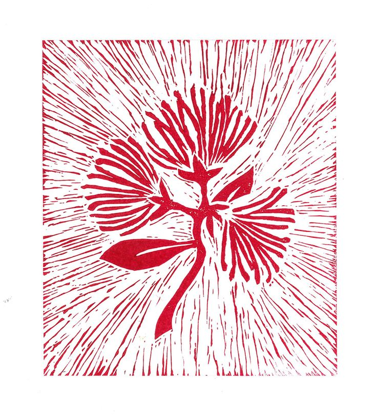 pohutukawa | linoprint | 2013
