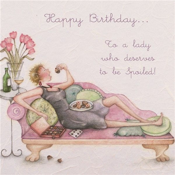 Cards » To a lady who deserves to be Spoiled » To a lady who deserves to be Spoiled - Berni Parker Designs