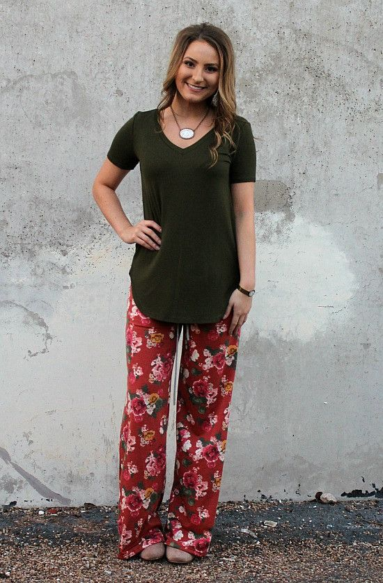 Sweet Dreams Lounge Pants in Rust Floral – Giddy Up Glamour Boutique