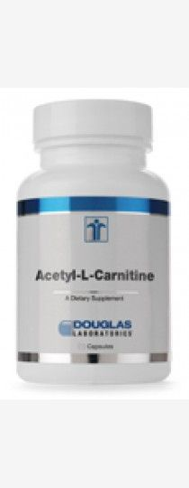 Acetyl-L-Carnitine 500 mg by Douglas Laboratories - maintaining normal brain and nerve function during aging, as many well-designed human and animal studies have  shown consistently. Acetyl-L-carnitine is a naturally occurring metabolite of L-carnitine, and both are present in the diet, particularly in foods of animal origin.