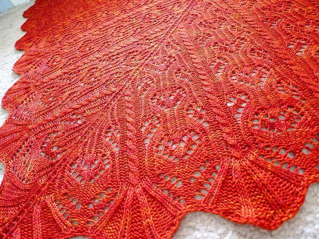 """Batik"" shawl pattern; love the cables and lace: Beautiful Patterns, Awesome Shawl, Favorite Shawl, Shawl Patterns, Batik Patterns, Patterns Worth, Batik Shawl, Gorgeous Shawl, Beautiful Shawl"