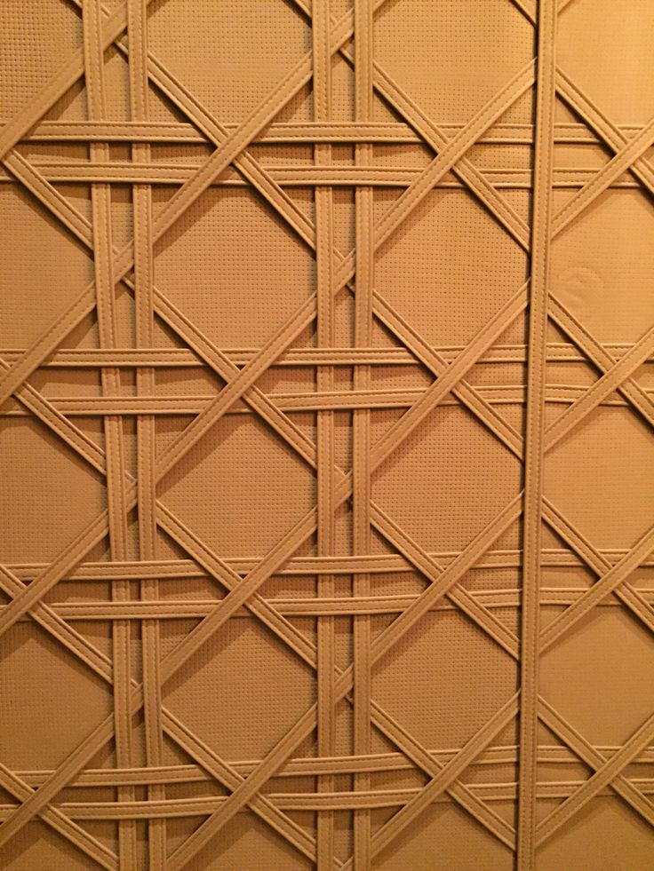 Photo 1: This leather wall is found in Crown casino. I liked the way how the strips make the shapes.