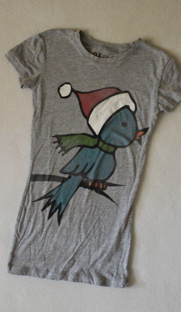 lol vintage blue bird tweet hat scarf graphic gray slim