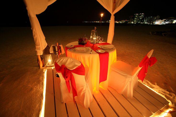 Jantar na praia? Apaixonante