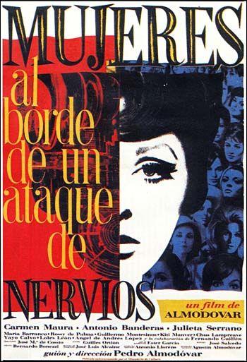 """088 """"Poster no oficial de Juan Gatti"""" / Mujeres al borde de un ataque de nervios (1988) / #Almodovar"""