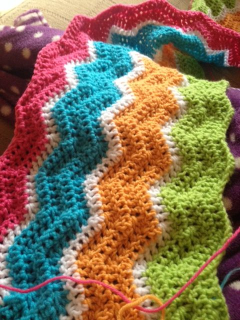 Heather's crochet blanket in Hayfield Baby Double Knitting