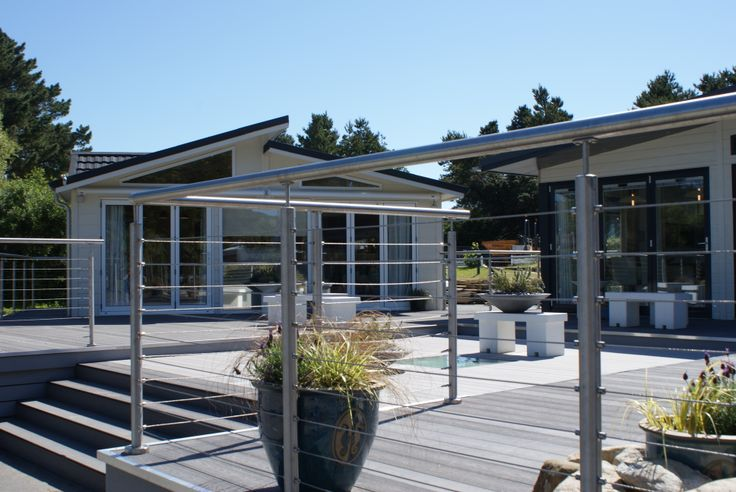 Wire Rope #Balustrade to large #Decking area
