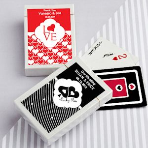 Simply Stylish Deck of Cards Wedding Favors