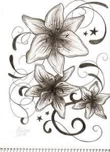 die besten 25 lilien tattoo design ideen auf pinterest lilien tattoos lilien tattoo und. Black Bedroom Furniture Sets. Home Design Ideas
