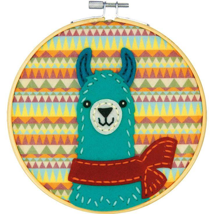 "Llama Felt Applique Kit - 6"" Round"