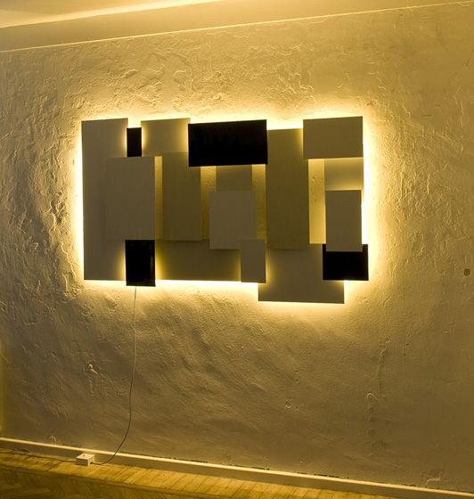 LED muur verlichting gecreëerd door Rubins Spaans www.rubins-art.com in samenwerking  met www.led-verlichting.org
