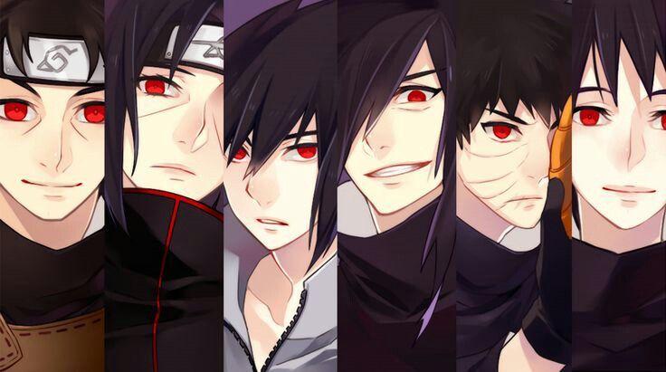 Uchiha Clan, Izuna, Itachi, Sasuke, Madara, Obito, Shisui, Sharingan; Naruto