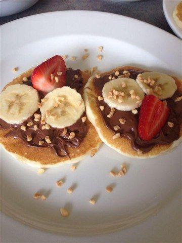 Nutella, Strawberry and Banana pancakes!