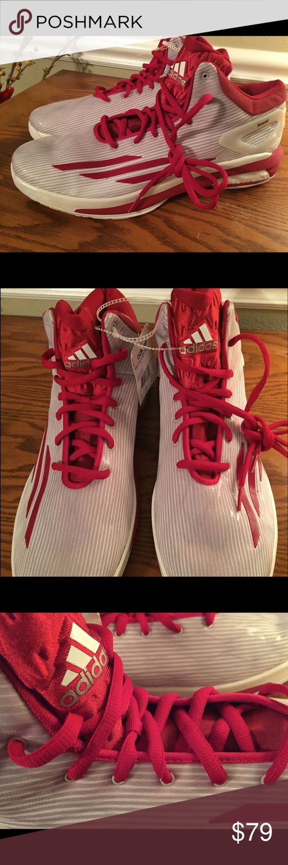 Adidas Crazylight Boost Basketball 🏀 Shoes Sz. 18 Men's size 18 Crazylight Boost Basketball 🏀 shoes. Red and white. S84629. Great shoe with great reviews online. Built for stability in the court. Designed for foot comfort and less foot stress. Adidas Shoes Athletic Shoes