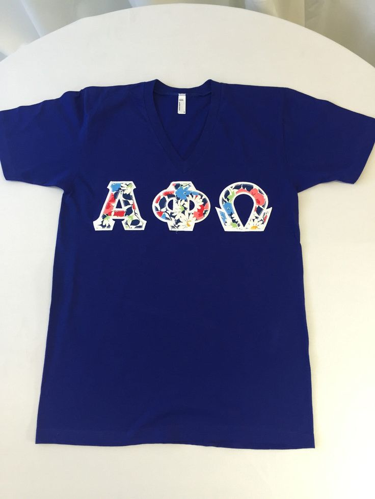 Alpha PHI Omega Royal Blue American Apparel V Neck 52 | eBay