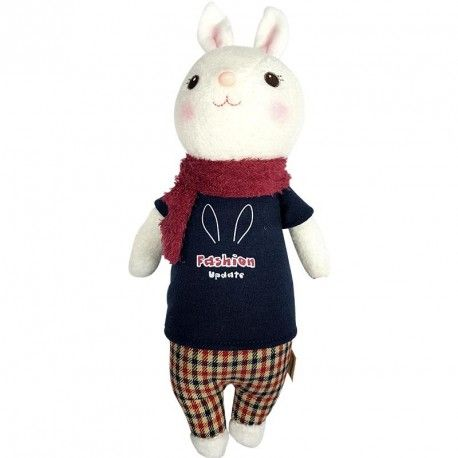 Peluche Bunny Rabbit Boy - colección tiramitu de metoo - Sabemos que a los peuqes le encanta, pero nada más adorable que un peluche esponjoso y tierno para regalar en San Valentín o aniversario - lacestamagica.com