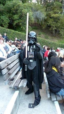 Darth Vader Star Wars in Concert Hollywood Bowl preshow (Jennifer Miner)