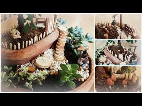 Fairy Garden #6 * DIY * Minigarten im Topf - YouTube