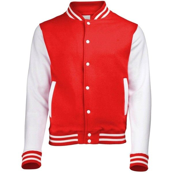 Mojessy Women's Slim Fit Baseball Varsity Bomber Jacket Coat Outwear (84 BRL) ❤ liked on Polyvore featuring outerwear, jackets, slim varsity jacket, slim fit varsity jacket, varsity bomber jacket, red jacket and college jacket