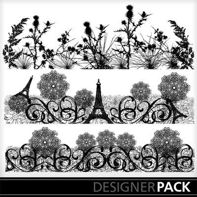 Digital Scrapbooking Kits | Decor8 Borders | Decorative | MyMemories Barbara Ryan