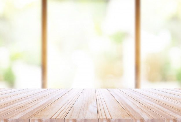 wood table top on disfocus kitchen background in 2020