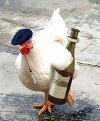 French Hen - haha, I like this XD Good one to store away in my brain...for British Chicken, maybe...
