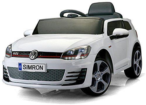 simron Golf 7 VW Golf GTI Cabriolet Elektro Kinderauto Kinderfahrzeug Ride-On 12V Kinder Elektroauto -WEISS-