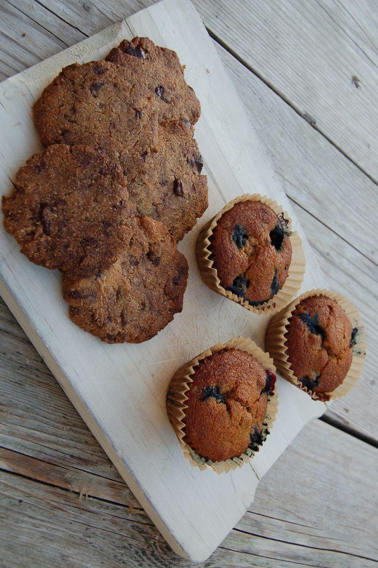 Blauwe bessen muffins en chocolate chip cookies- Recept van Amber Albarda