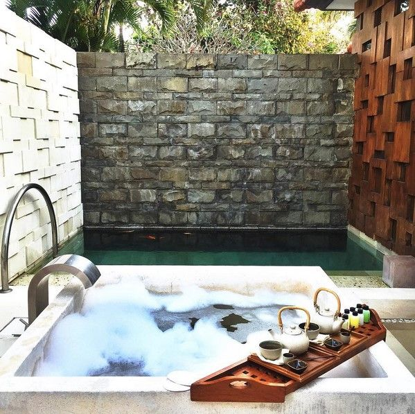 """Kriya, or """"rituals"""" in Sanskrit, guide Grand Hyatt Bali's signature spa experiences designed to calm and soothe the traveler. Bask in a personal plunge pool at Kriya Spa on your next trip. Photo by @thefierce_nay on Instagram."""
