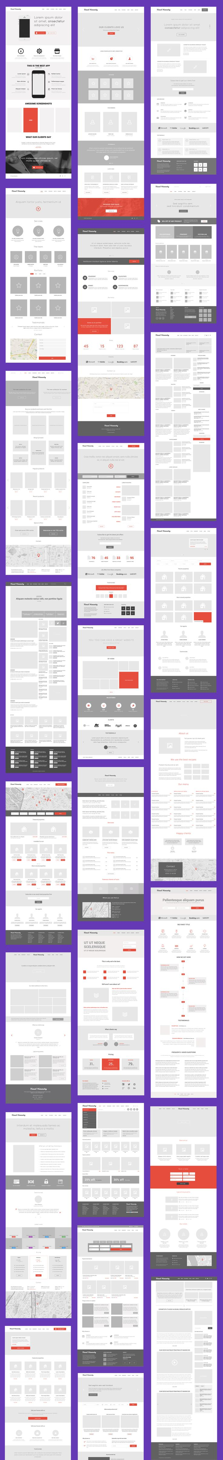 Zed – Essential Wireframe Kit for Web Designers | Visual Hierarchy