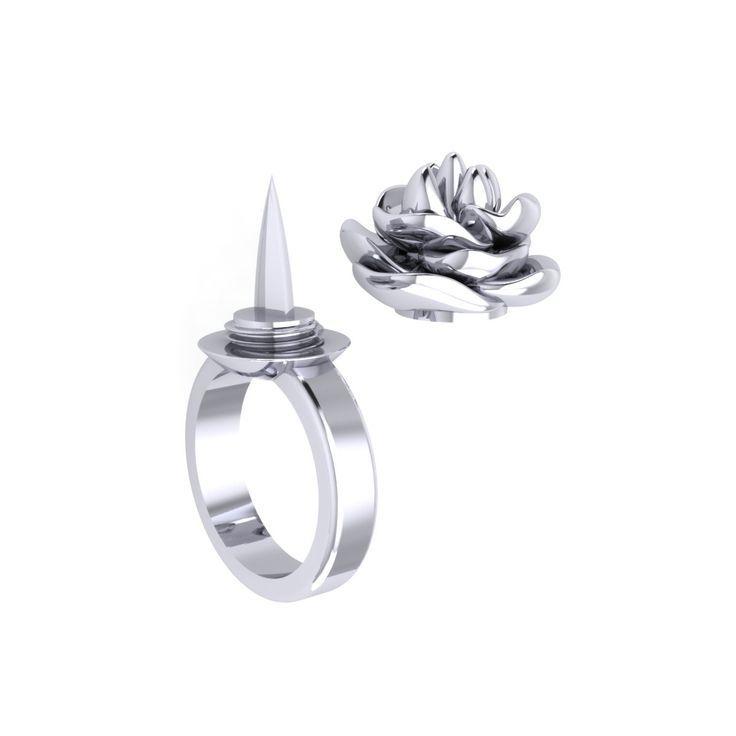 Der Defender Ring ™ ist eine moderne Selbstverteidigungswaffe für Frauen, die als