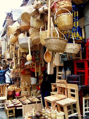Handmade Baskets and wooden kitchen utensils in Eminönü, Istanbul. http://www.turkeysforlife.com/2012/05/istanbul-egyptian-spice-bazaar.html