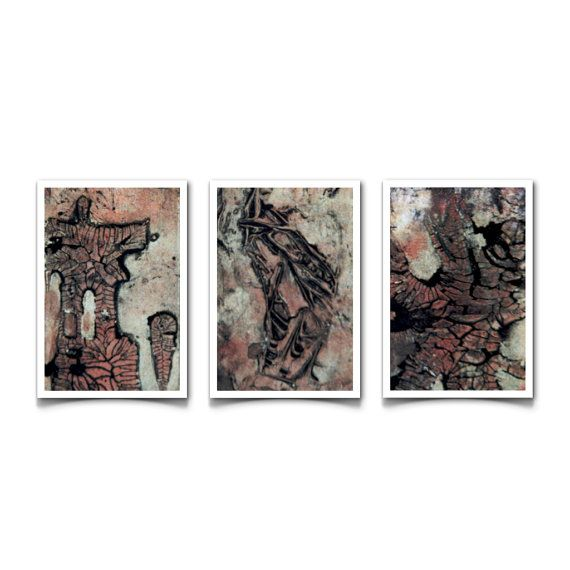 Art prints inspired  by marks left from the past etched by nature.