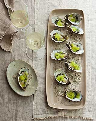 oysters with yuzu granita from In the Mix thermomix cook book