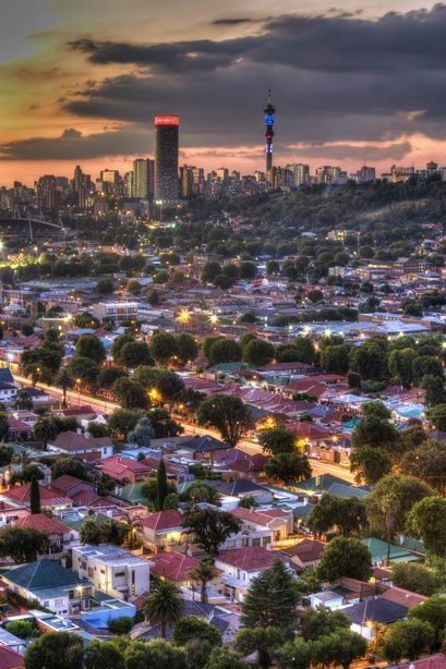 The beautiful city of Johannesburg... Wow