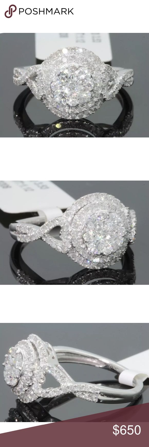 Amazing 1.10 carat 10k white gold diamond ring Amazing 1.10 carat 10k white gold diamond ring! Diamonds are full of sparkle! Retail over $3500!!! Jewelry Rings
